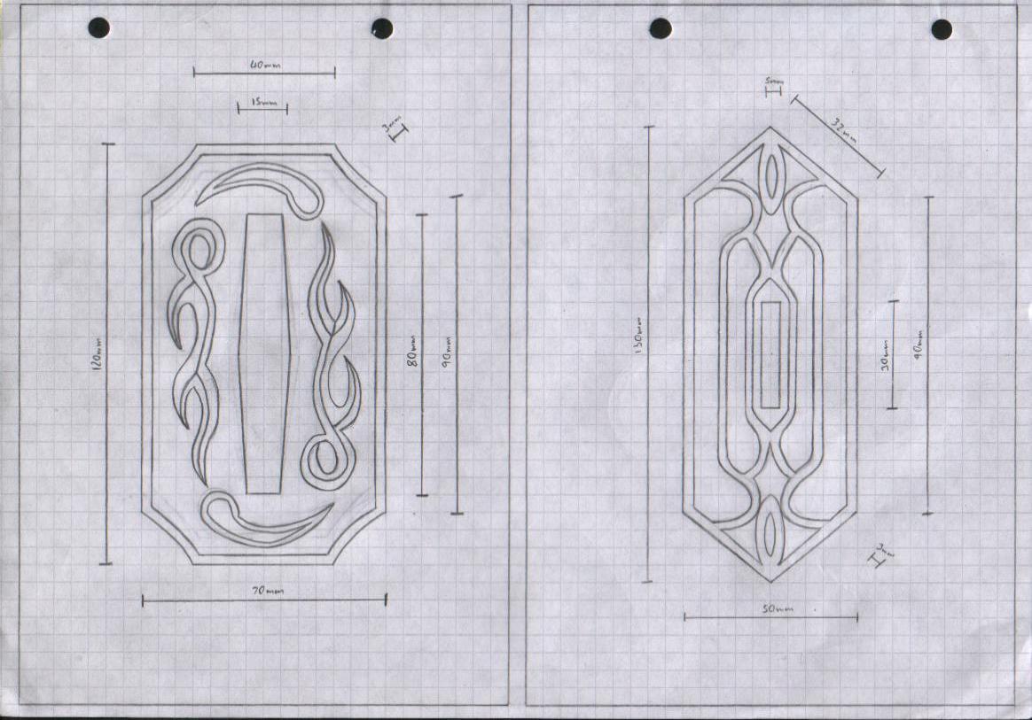Zanpakuto Tsuba Designs: Pt 11 by chioky