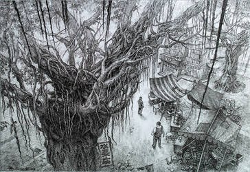 The Giant Ficus Tree by LotharZhou