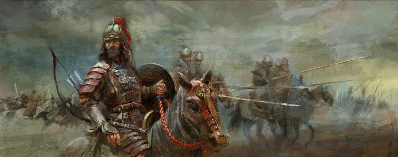 Mongol Cavalry by LotharZhou