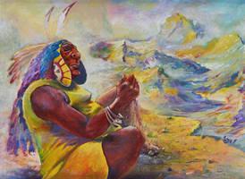 shaman by Starv-n-Artist