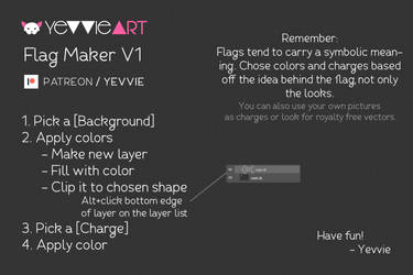 Flag Maker V1 [Free Version][PSD] by yevvie