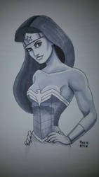 Wonder Woman Sketch by Deviator77