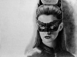 Catwoman Hathaway by joniwagnerart