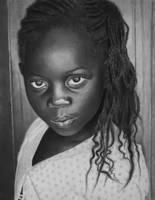 A Little Girl from Kenya by joniwagnerart