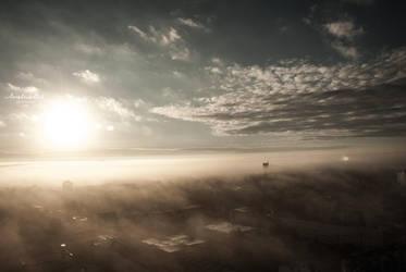 Rostock im Nebel by sunDox