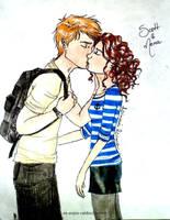 A goodbye kiss by Linaia