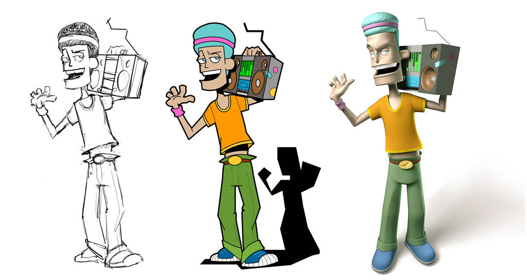 Ghetto Character Developement by 2createmedia