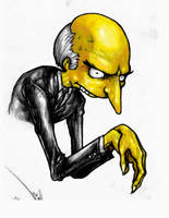 Mr. Burns by suarezart