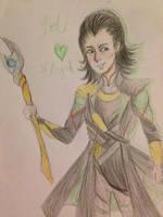 Loki of Asgard- COLORED by ucccoffee