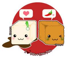 Malaysian Food - Tofu Family by Yeaney
