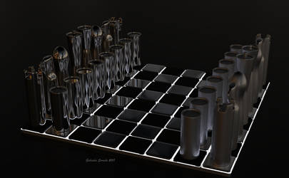 Minimalist Chess Set by galidor