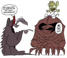 Mousebell and the Garthim by DrOfDemonology