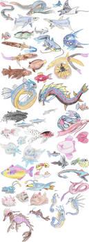 Fish Pokemon by DragonlordRynn