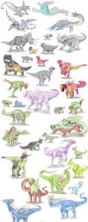 Dinosaur Pokemon by DragonlordRynn