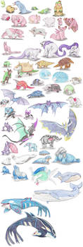 Other Mammalian Pokemon by DragonlordRynn