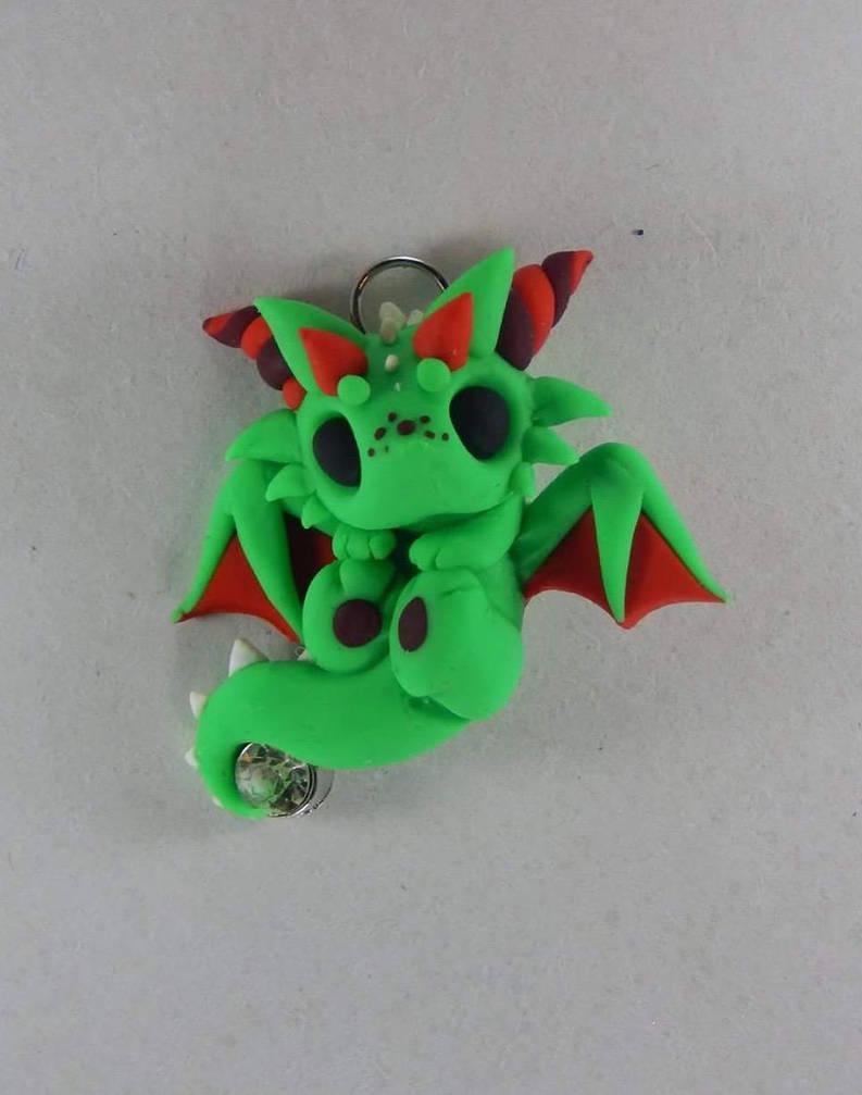 Green Christmas Dragon by XDtheBEASTXD