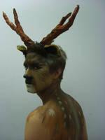 Deer Body Art by 1lonelyangel