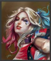 Harley Quinn Fan Art by DelarasArt