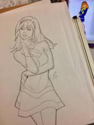 Sketching Daphne by DelarasArt
