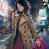 Winter Colors: beige by DelarasArt