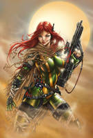 Hope Summers X men Colored by jamietyndall