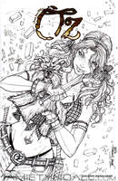 Dorothy and Toto sketch cover commission by jamietyndall