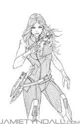 Mass Effect Miranda - commission by jamietyndall