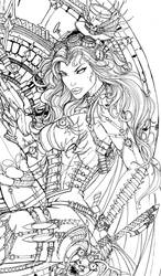 LadyDeath SteamQueen ink lady by jamietyndall