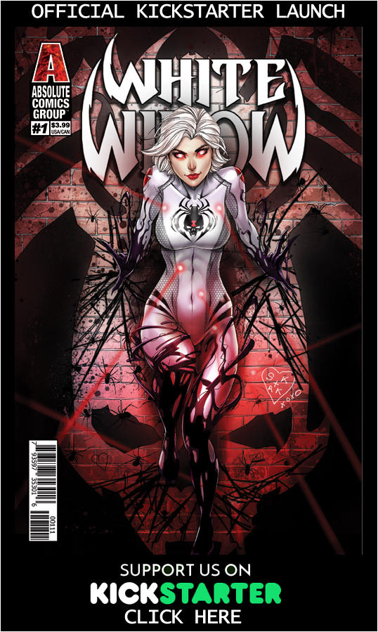 White Widow Kickstarter Issue 1 by jamietyndall