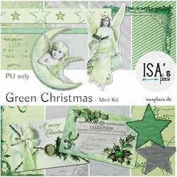 Scrapbooking Kit: Green Christmas by IsaaaHa