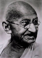 Mahatma Ghandi No.1 by amberj8