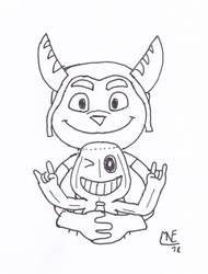 INKtober - PlayStation Mascot(s) by MrNintMan