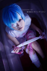 ayanami rei- blood n bandage by angie0-0
