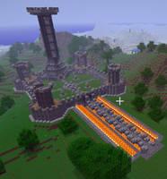 MineCraft Keep by Vander-Axis