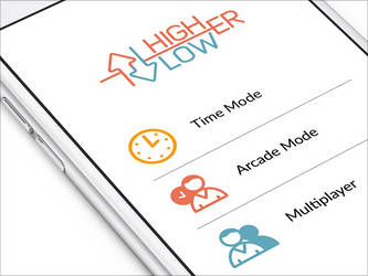 HigherLower iPhone Game by Ramotion