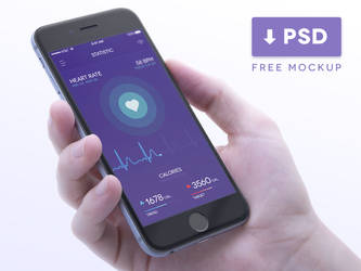 Health Tracker in iPhone Mockup PSD by Ramotion