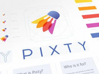 Pixty App Branding by Ramotion