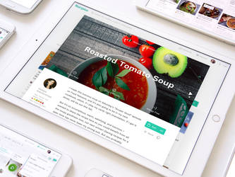 Healthy Food Web Recipes by Ramotion