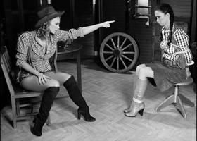 Evil Cowgirl Gets Hers..... by InfraDalek