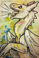 Inktober #9 Screech by Tir-Goldeness