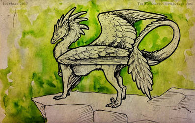 Inktober #17 Graceful by Tir-Goldeness