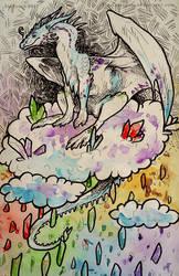 Inktober #19 Cloud by Tir-Goldeness