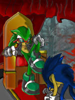 sonic and scourge the hedgehog by 000green00miracle000