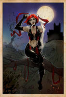 Bloodrayne: the colouring by erebus-odora