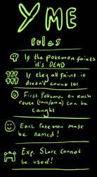 Y ME Pokemon Y Nuzlocke run RULES by TheBookwormMaddy