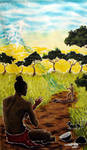 Detail2 African Creation myth by Nytlin