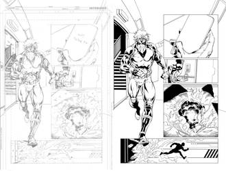 Grifter #13 page 11 inks... by Hachiman1