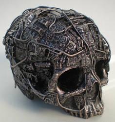 techno skull by richardsymonsart