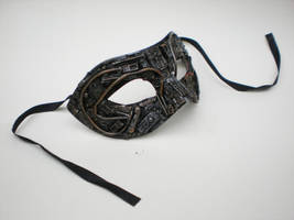 techno mascarade mask. by richardsymonsart