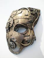 techno phantom mask, bronze by richardsymonsart
